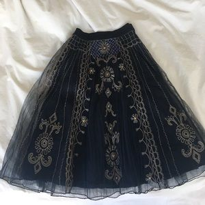 Anthropologie bl^nk beaded skirt! New with tags